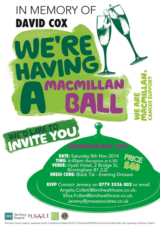 MacMillan Ball in memory of David Cox